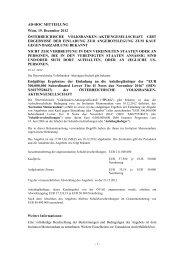 Ad-hoc Meldung herunterladen - Volksbank AG
