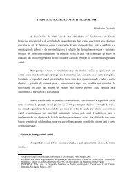 A proteção social brasileira - revista internacional direito e cidadania