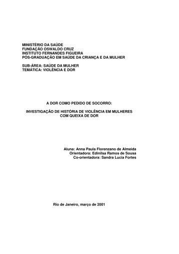 ministério da saúde fundação oswaldo cruz instituto ... - Arca - Fiocruz