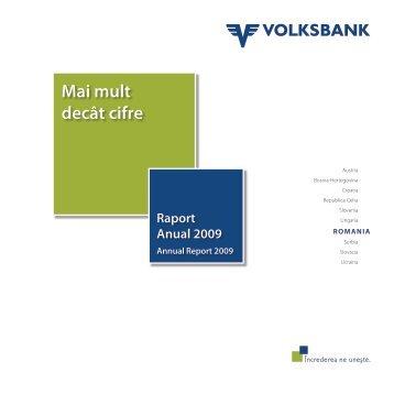 Raport Anual 2009 - Volksbank AG