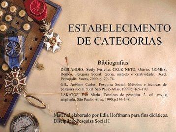 ESTABELECIMENTO DE CATEGORIAS - Unisc