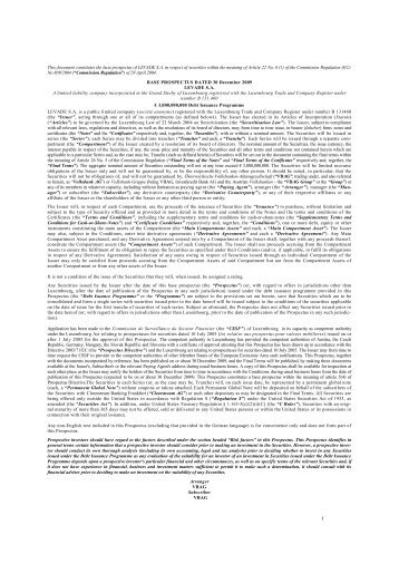 I This document constitutes the base prospectus of ... - Volksbank AG