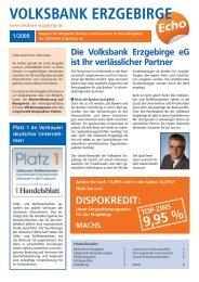 VOLKSBANK Echo - Volksbank Chemnitz eG