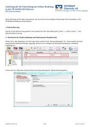 Anleitung für Nutzer der VR-NetWorld-Software mit - Volksbank ...