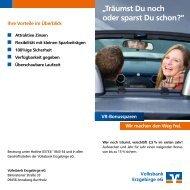 """""""Träumst Du noch oder sparst Du schon?"""" - Volksbank Chemnitz eG"""