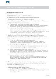 Änderungen in der Version 4.41 - Volksbank Chemnitz eG