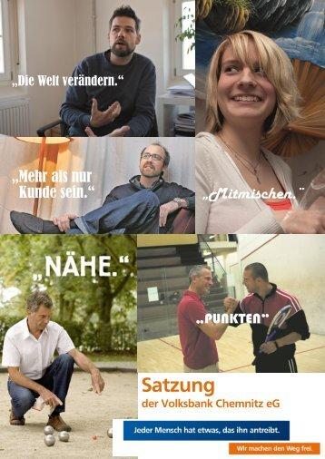 Satzung - Volksbank Chemnitz eG