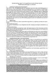 Sonderbedingungen - Volksbank Chemnitz eG