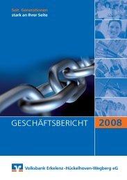 Geschäftsbericht 2008 - Volksbank Erkelenz eG