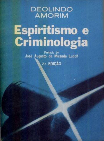 Deolindo Amorim - Espiritismo e Criminologia - ViaSantos
