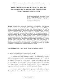 acesso, permanência, inserção e conclusão do curso superior - 2