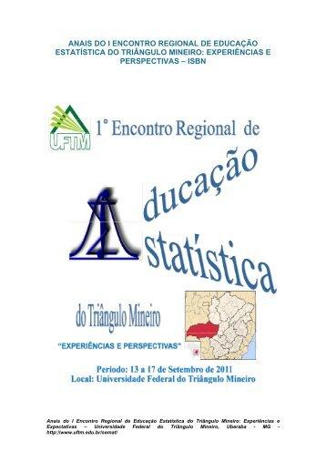 Anais do I Encontro Regional de Educação Estatística - UFTM