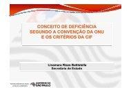 Conceito de Deficiência - Secretaria de Desenvolvimento Social