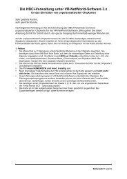 Die HBCI-Verwaltung unter VR-NetWorld-Software 3.x - Volksbank ...