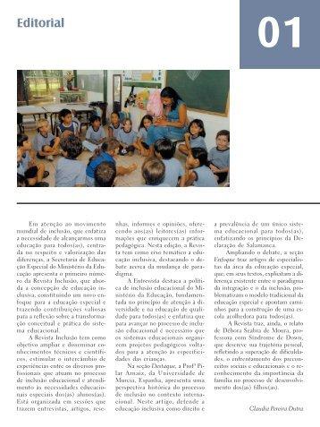 Revista Inclusão - Ministério da Educação