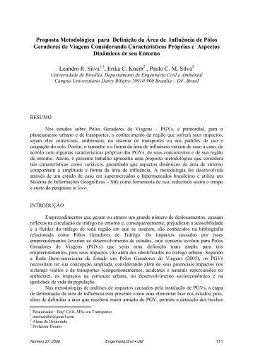 Proposta Metodológica para Definição da Área de Influência de ...