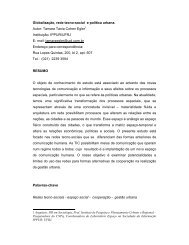 Globalização, rede tecno-social e política urbana - Espaco.ippur.ufrj ...