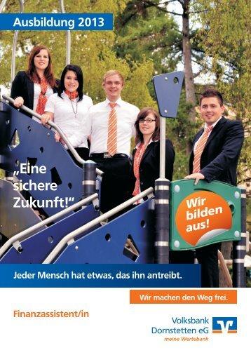 Finanzassistent/in - Volksbank Dornstetten eG