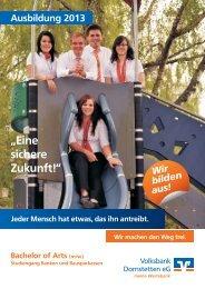 """""""Eine sichere Zukunft!""""  - Volksbank Dornstetten eG"""