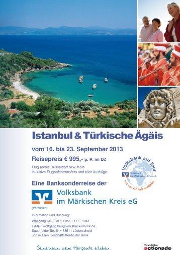 Reiseprospekt Istanbul & Türkische Ägäis (pdf; ca. 1