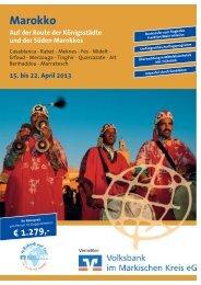 Reiseprospekt Marokko (pdf; ca. 0,5 MB) - Volksbank im Märkischen ...