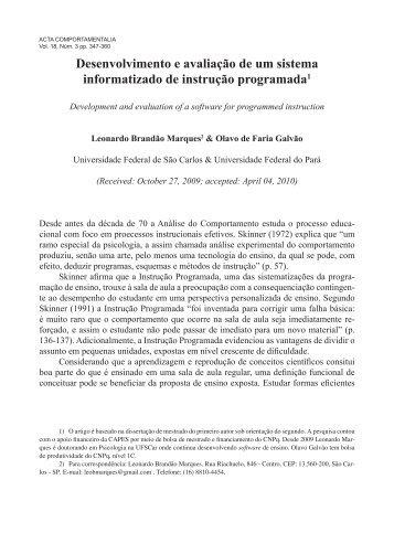 desenvolveu e avaliou um Sistema Informatizado - Revistas de la ...
