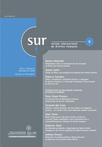 Pobreza e direitos humanos - Sur