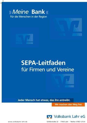 SEPA-Leitfaden - Volksbank Lahr eG