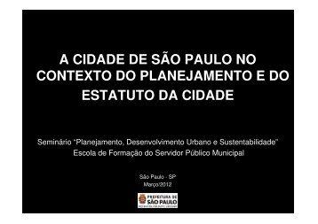 O que é uma cidade? - Prefeitura de São Paulo