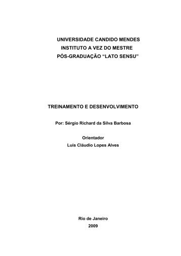 treinamento e desenvolvimento - AVM Faculdade Integrada