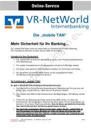 "Die ""mobile TAN"" - Volksbank Lingen eG"