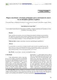 Mapas conceituais - Ciências e Cognição