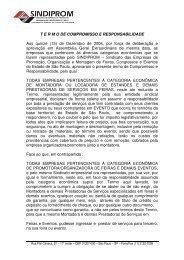 termo de compromisso e responsabilidade - Sindiprom