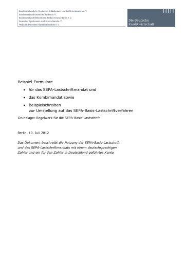 SEPA-Lastschriftmandat Core (PDF) - Volksbank Mittleres ...