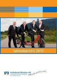 PDF Geschäftsbericht 2010 - Volksbank Minden eG