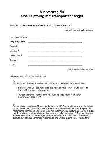 mietvertrag pdf volksbank nottuln eg - Untermietvertrag Muster Kostenlos