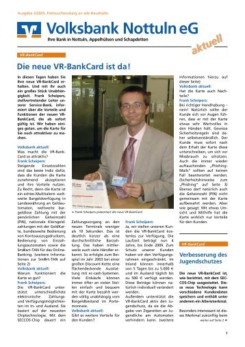 Ausgabe 03/2005 - Volksbank Nottuln eG