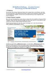 Anleitung VR-NetWorld-Software mit PIN/TAN - Volksbank ...