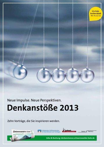 Denkanstöße 2013 - Volksbank Rottweil