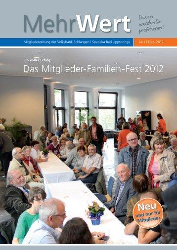 MehrWert 1.2012 - Volksbank Schlangen eG