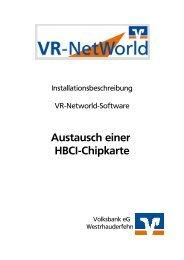 2.1 Austausch Chipkarte - Volksbank eG Westrhauderfehn