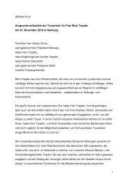 1 Wilhelm Krull Ansprache anlässlich der Trauerfeier für Frau  Birte ...
