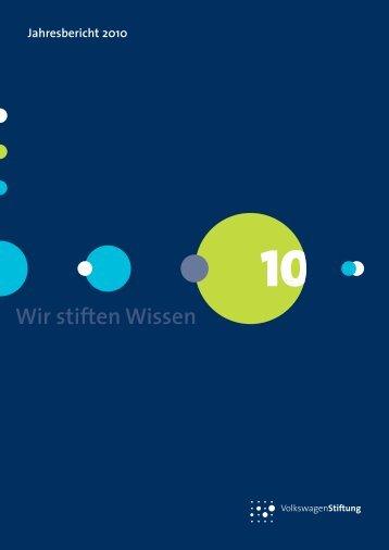 Förderung 2010 - VolkswagenStiftung : Seite nicht gefunden