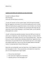 Wilhelm Krull Laudatio auf die Edition der Tagebücher von Harry ...