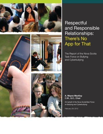 Respectful and Responsible Relationships: There's No App for That