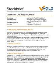 Steckbrief - Volz Gruppe GmbH