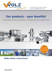 Our products –  your benefits! - Volz Gruppe GmbH
