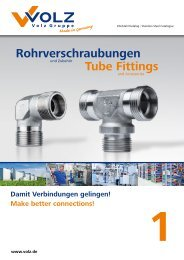 PDF Rohrverschraubungen - Tube Fittings - Volz Gruppe GmbH