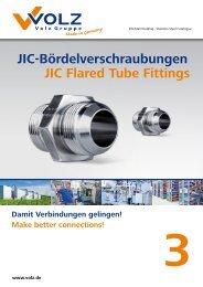 JIC-Bördelverschraubungen JIC Flared Tube Fittings - Volz Gruppe ...