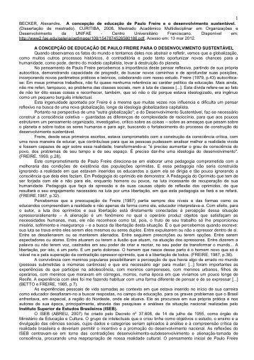 5 a concepção de educação de paulo freire para o - Fcarp
